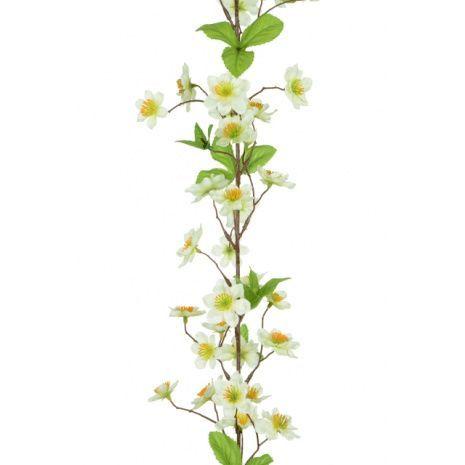 Apple Blossom Garland 182cm White