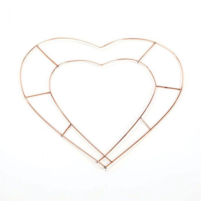 12inch Wire Open Heart x 20pcs