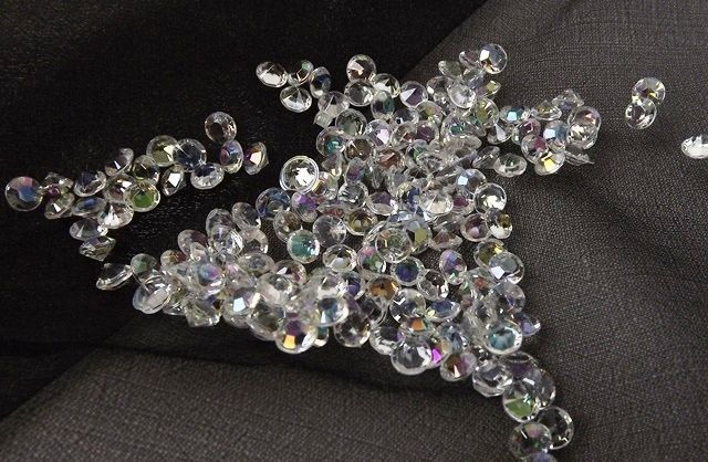 6mm Decor Diamante Diamonds 500g Iridescent