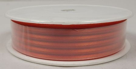Basic Stripes Ribbon 25mm x 25mtr Red