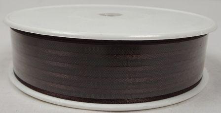 Basic Stripes Ribbon 25mm x 25mtr Brown