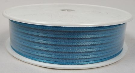 Basic Stripes Ribbon 25mm x 25mtr Turquoise