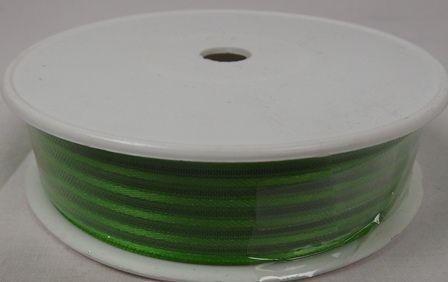 Basic Stripes Ribbon 25mm x 25mtr Apple Green