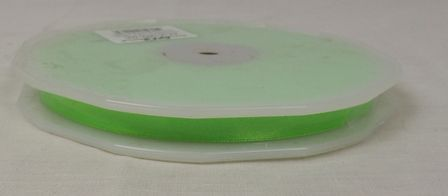 Double Face Satin 10mmx50Mtr Neon Green