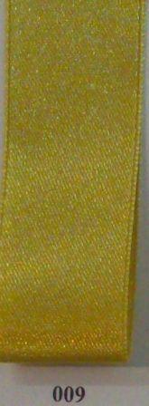 Double Face Satin 25mm x 25mtr Mustard