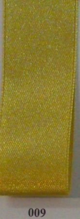 Double Face Satin 10mm x 50Mtr Mustard
