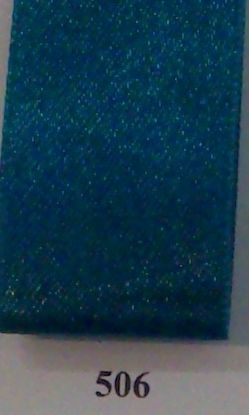 Double Face Satin 6.5mm x 50Mtr Teal