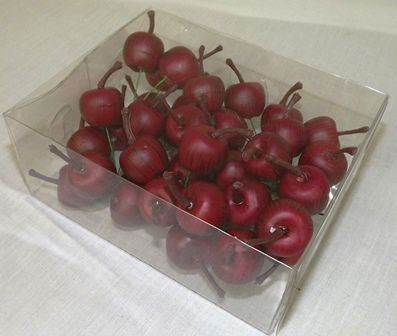 25mm Apple On Wire x 36pcs Mat Red