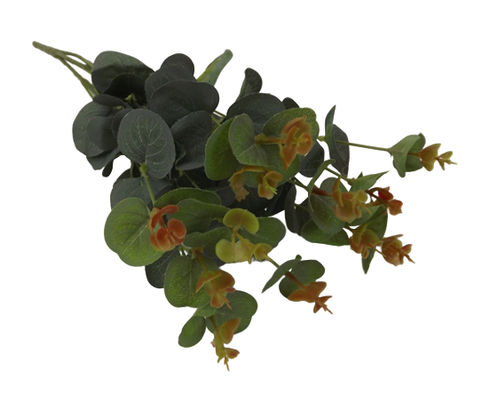 49cm Eucalyptus Bush Green