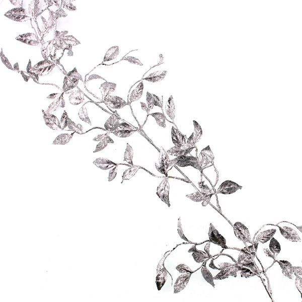 180cm Honeysuckle Garland Silver