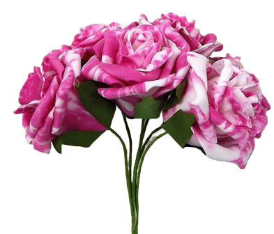 Colourfast Marble Rose x6 heads Hot Pink