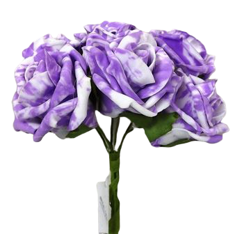 Colourfast Marble Rose x6 heads Lilac