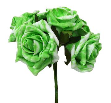 Colourfast Marble Rose x6 heads Vibrant Lime