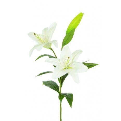 Casablanca Lily x 2 Flowers Fresh Touch 83cm White