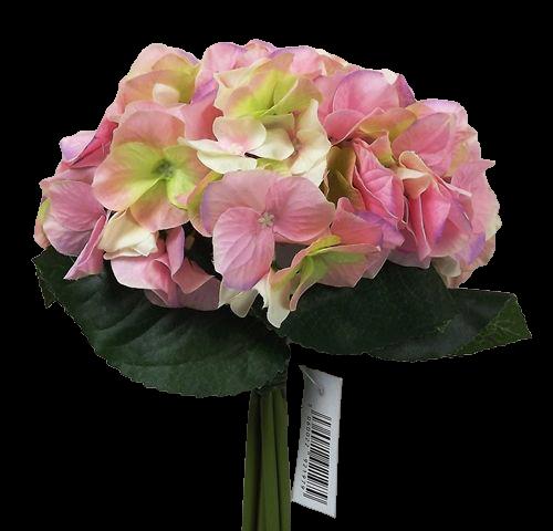 28cm Pink Hydrangea x 6 Posy
