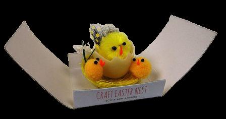 5 x 4cm 3 Mini Chick Nest