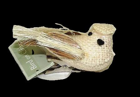 10cm Glittered Bird on Clip  Ceam