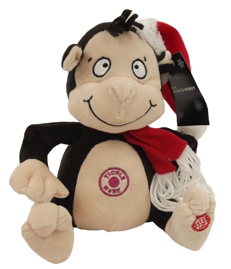24cm Animated Tickle Monkey