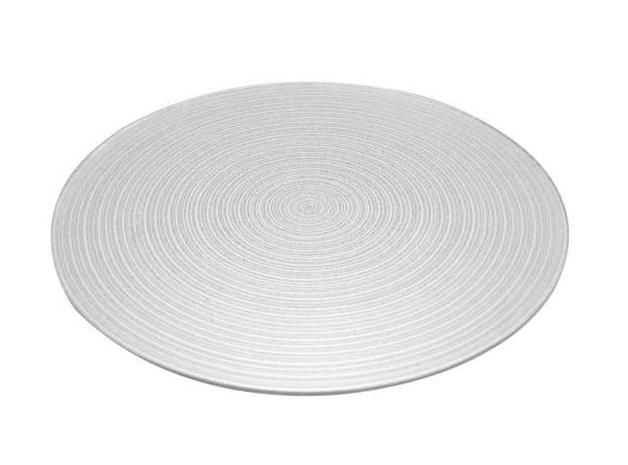 25cm Silver Swirl Mirror Plate
