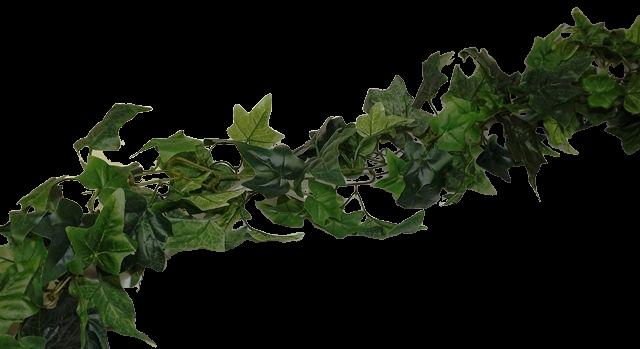 183X15Cm Green Ivy Leaf Chain Link Garland
