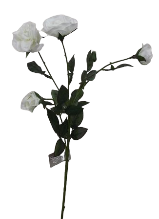 62cm Mini Cabbage Rose Spray Cream