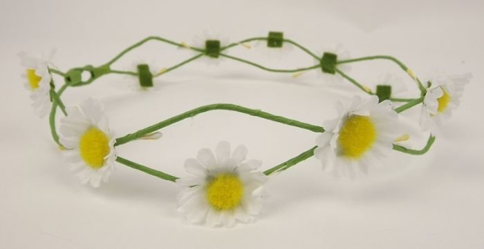 Daisy Headband White (17cm Diameter - Adjustable)