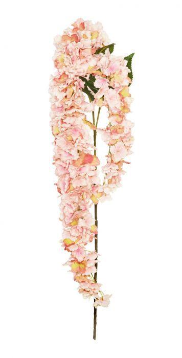 155cm Pink Trailing Hydrangea x 2 Stems