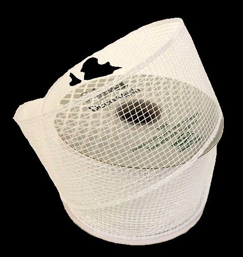 Eleganza Deco Mesh 63mm x 10m White