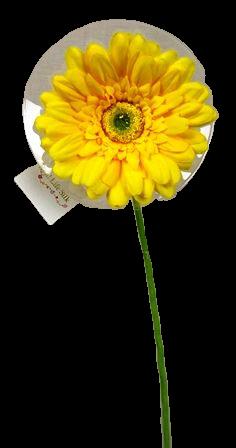 62cm Gerbera Yellow