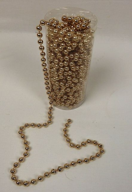 8mm Pearl Chain Band Rose Gold 10mtr