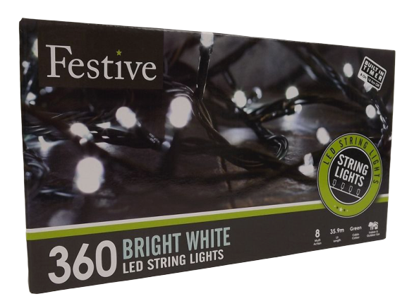 360 White Led Lights W/ 8 Multifunction With Timer