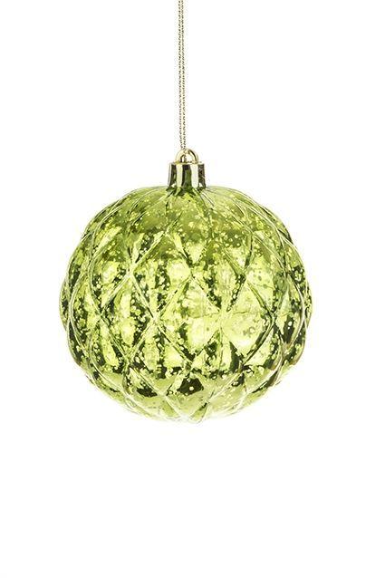 Bm Lattice Bauble 8cm Green