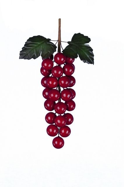 Classic Grape Pick X 25 Berries 17Cm Red