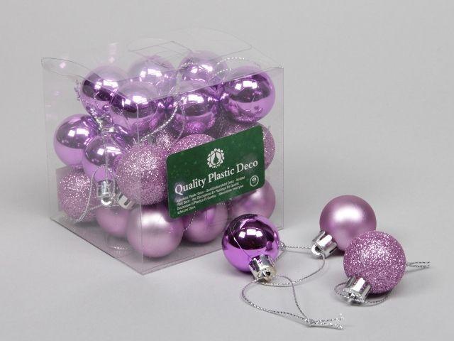 27 Plastic Balls Combi Pink 30 Mm