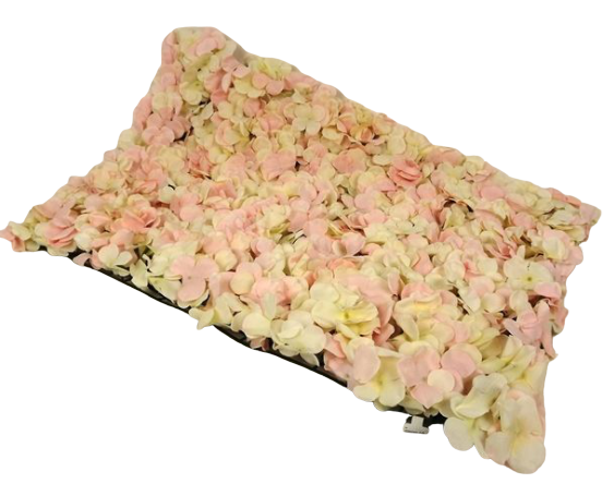 40 x 60cm Pink Hydrangea Flower Wall