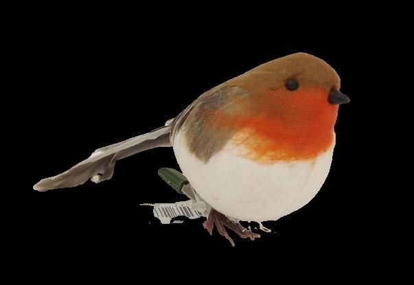 12cm Fat Robin Clip