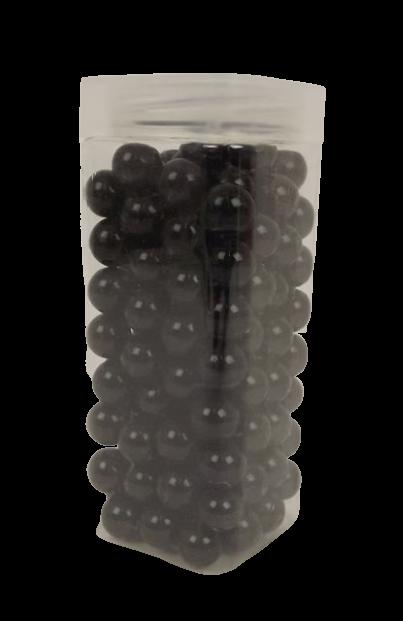 700gr Black 16mm Glass Marbles In Jar