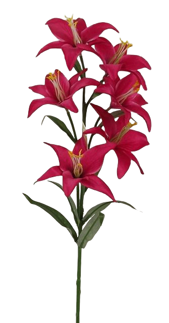 68cm Lily Spray Pink Fuchsia