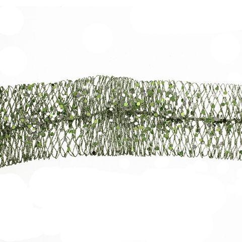 150cm x 6cm Net Ribbon Garland Peppermint