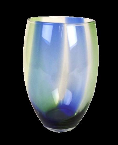Vase Green/Blue H28 - D18cm