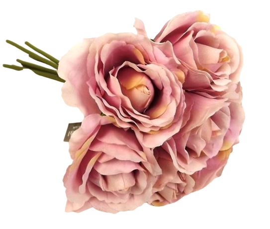 26cm Lilac Open Rose Bouquet