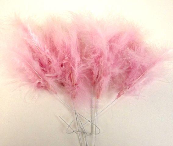 Fluffy Feathers - Mauve (24cm x 6 Pieces)