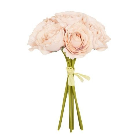 26cm Bisque Open Rose x 7 Hand Tied