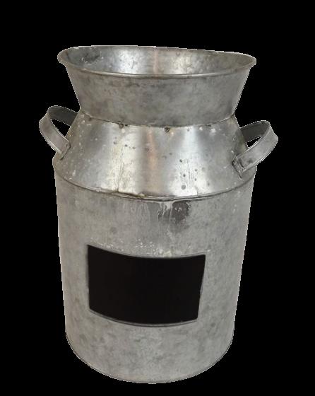 30.5cm Washed Zinc Urn W/Handles