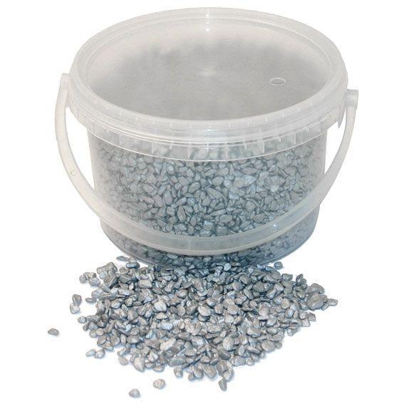 4kg Bucket 4-6mm Pebbles Silver
