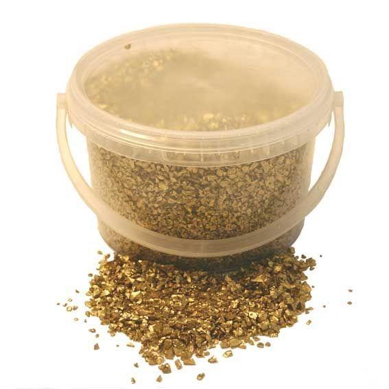 3.5kg Bucket 2-4mm Glass Sand Gold