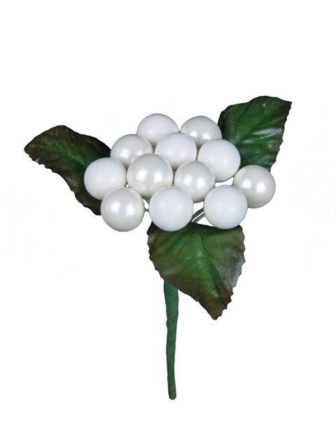 Classic Berry Pick White x 12 Berries 11cm