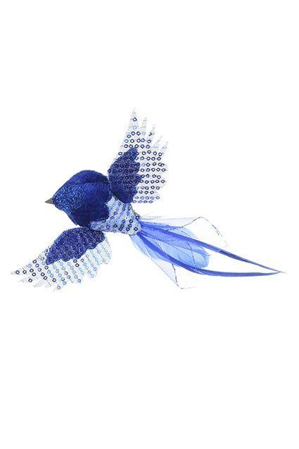 Feather Flying Bird Clip 4.5cm Dark Blue
