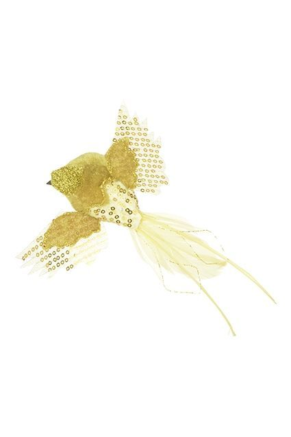 Feather Flying Bird Clip 4.5cm Gold