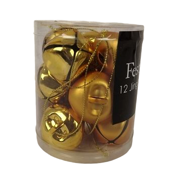 12 X 3.8Cm Gold Bell Decorations
